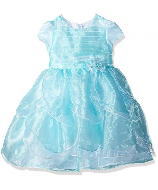 Nannette Toddler Sleeved Organza Tucked