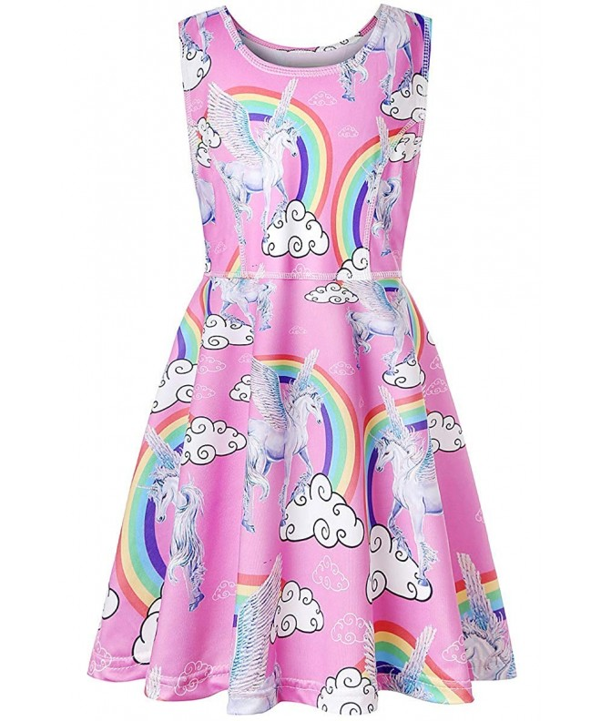 Girls Unicorn Dresses Costumes Wedding
