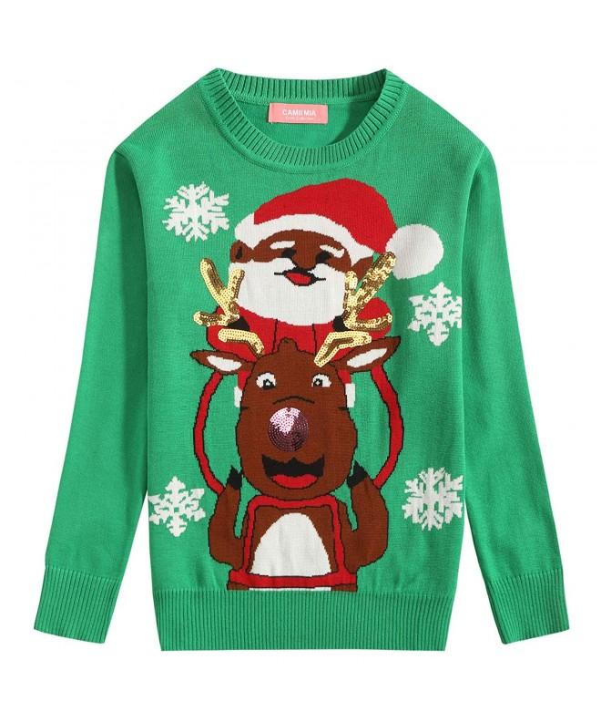 Camii Mia Reindeer Crewneck Christmas