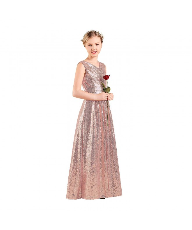 Junior Bridesmaid Sequin Wedding Pageant