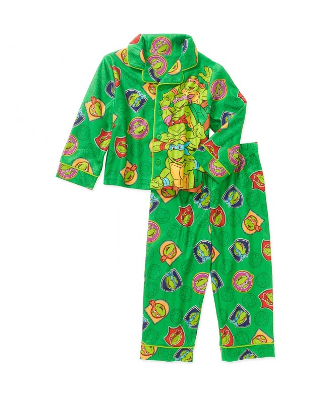 Ninja Turtles Button Flannel Pajama
