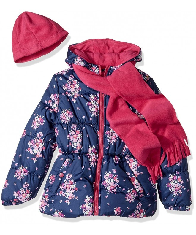 Pink Platinum Floral Puffer Accessory