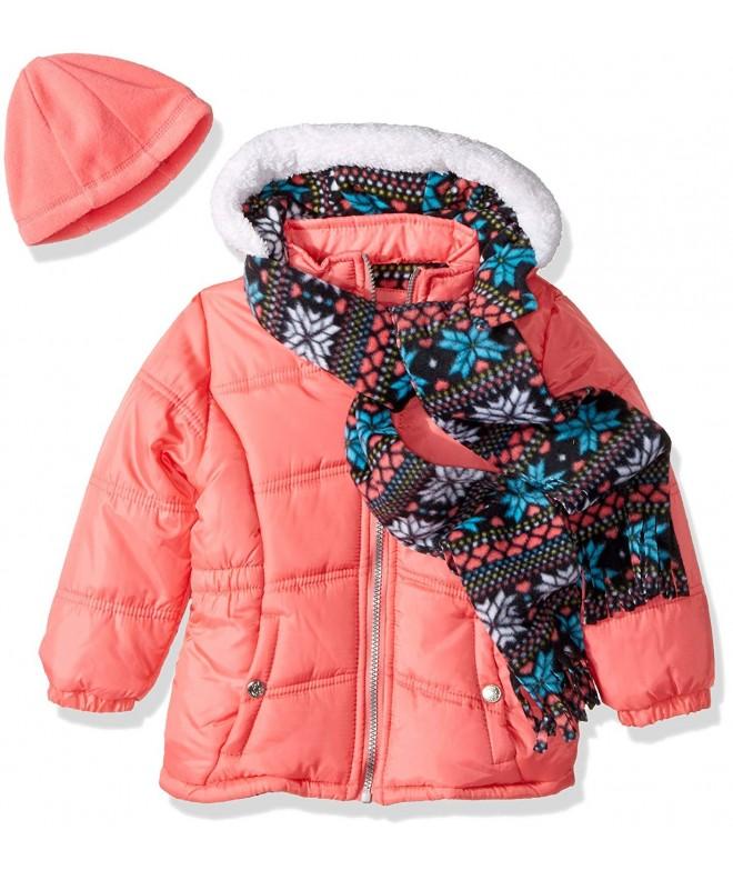 Pink Platinum Girls Snowflake Puffer