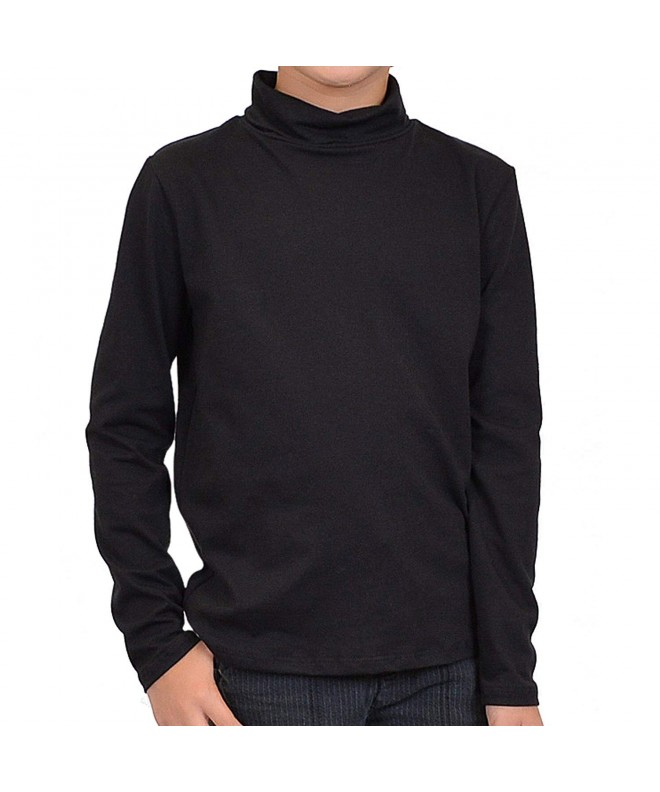 Stretch Comfort Sleeve Cotton Turtleneck