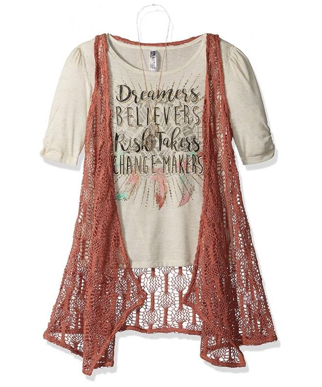 Beautees Girls Crochet Duster Screen