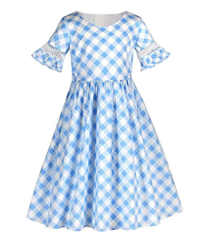 Sharequeen Vintage Pattern Flared Dresses