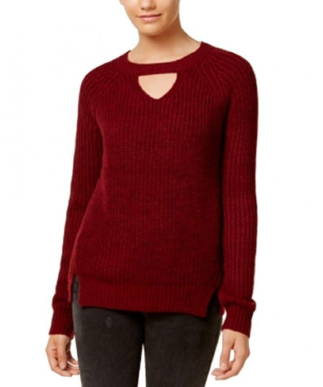 Freshman Juniors Marled Choker Sweater
