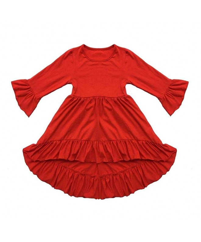 Coralup Cotton Ruffles Dresses Swallowtail