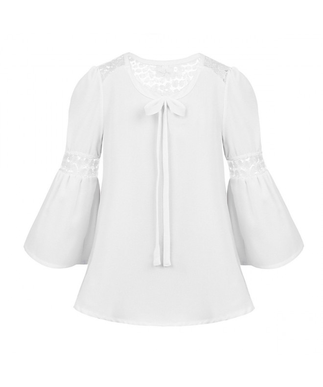Agoky Sleeves Splice Blouse Spring