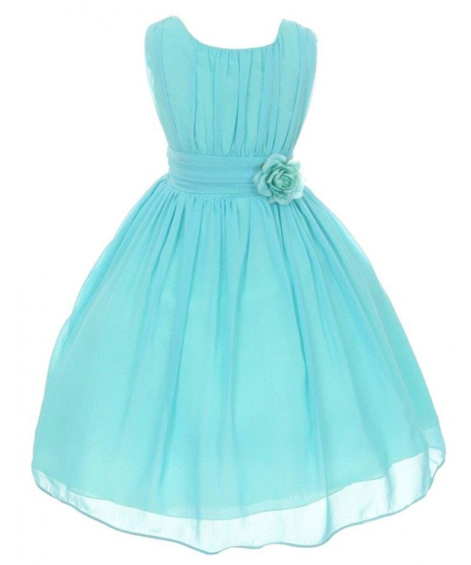 iGirlDress Little Girls Chiffon Flower