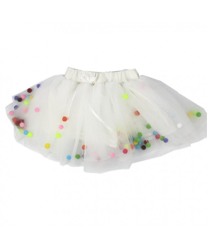 MizHome Girls Multi Layer Pompom Toddler