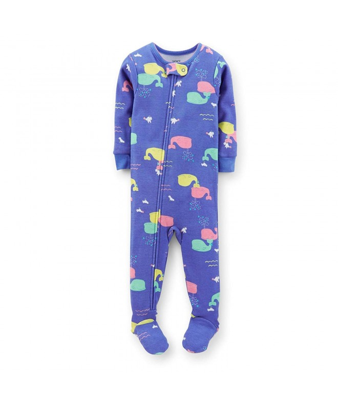 Carters Striped Footie Toddler Whales 5T