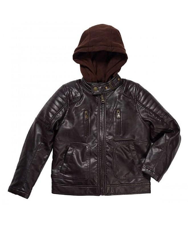 Urban Republic Leather Jacket Brown