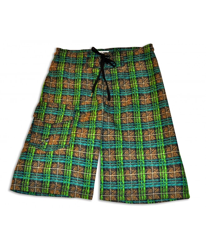 Just Bones Boardwear Plaid Shorts