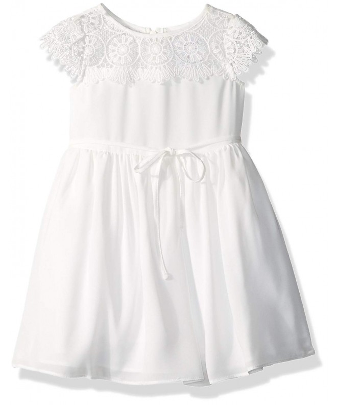 Little Angels Girls Scalloped Sleeve