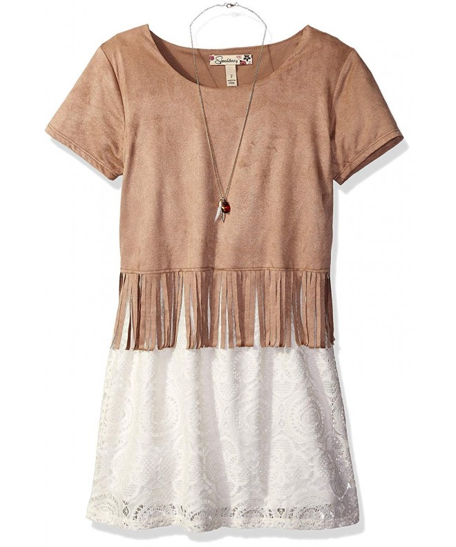 Speechless Girls Suede Fringe Popover