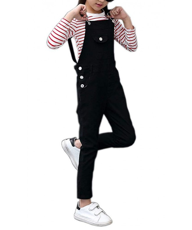 Adjustable Cotton Suspender Overalls Trousers