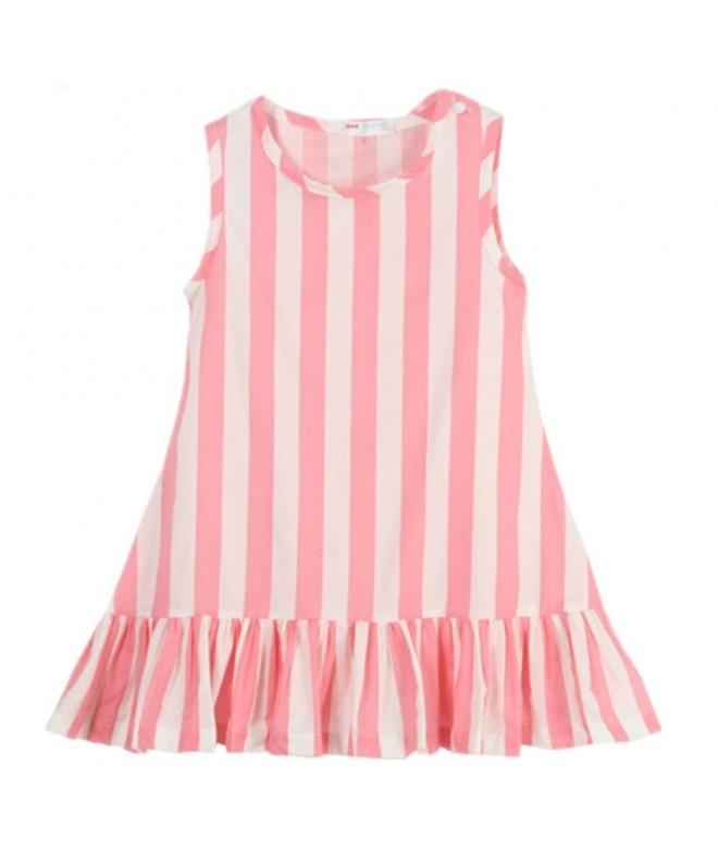 LittleSpring Little Girls Dresses Striped