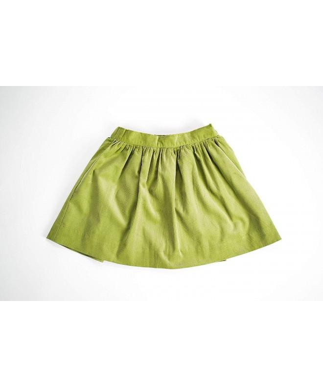 EVERBLYSS Lime Corduroy Skirt