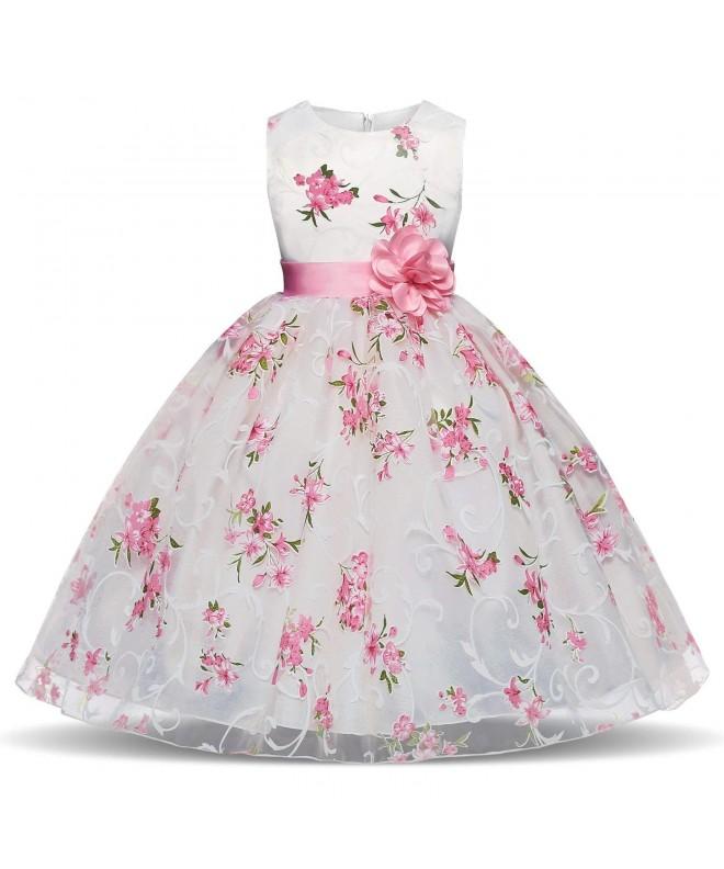 TTYAOVO Printing Chiffon Princess Wedding