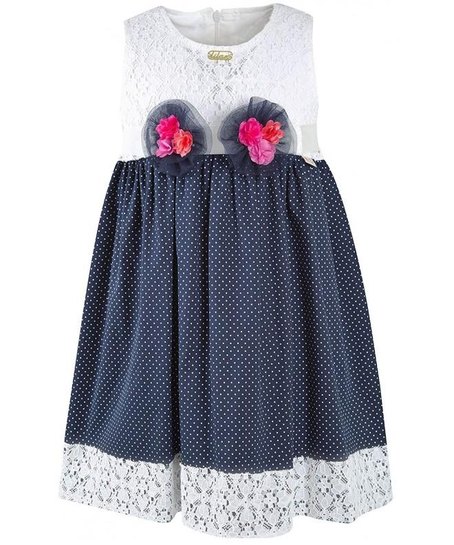 Lilax Little Girls Polka Dress