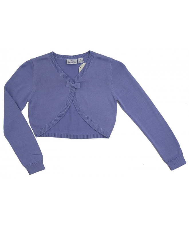 Ms Purple Girls Cropped Cardigan