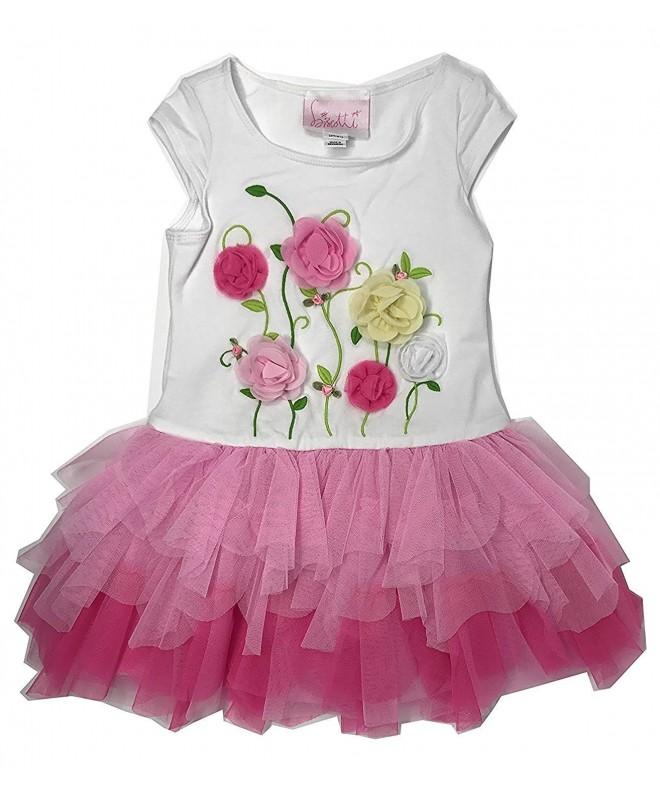 Biscotti Girls Floral Dress Pink