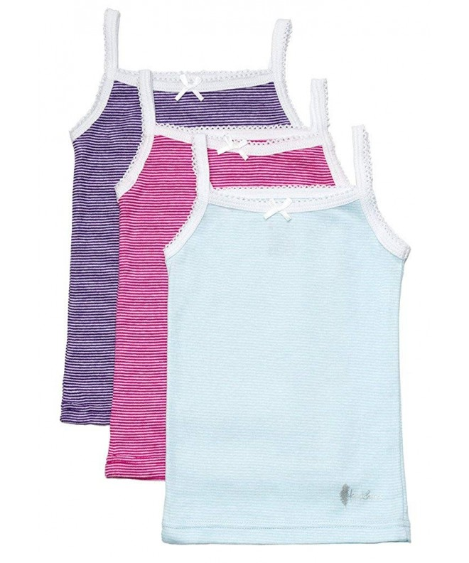 Feathers Girls Stripe Tagless Undershirts