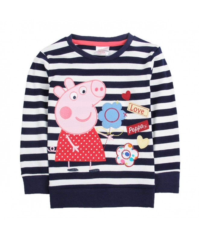 Embroidery Cartoon Spring T shirt Cotton