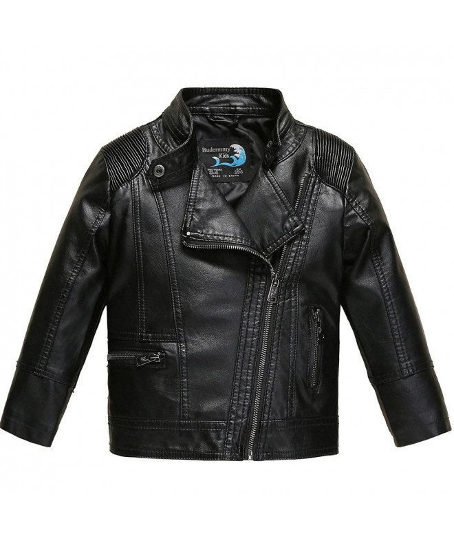 Budermmy Leather Motorcycle Jackets Zipper