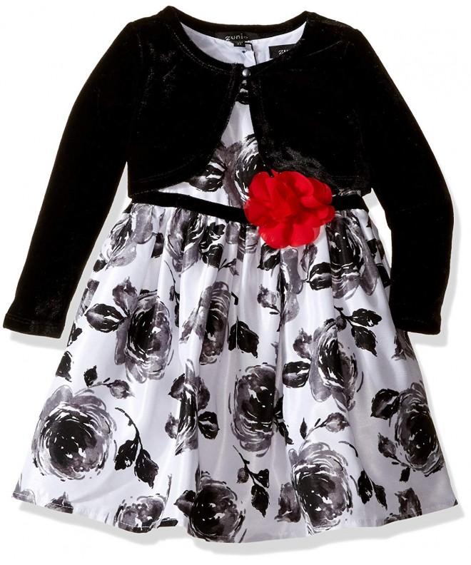ZUNIE Girls Floral Dress Velvet