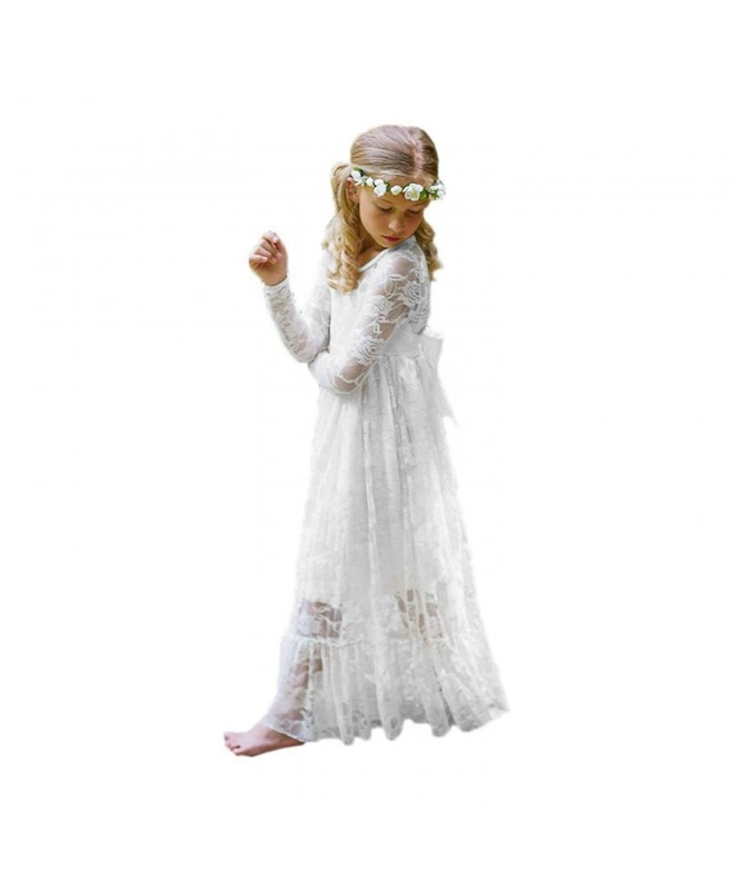 First Communion Dress Line White