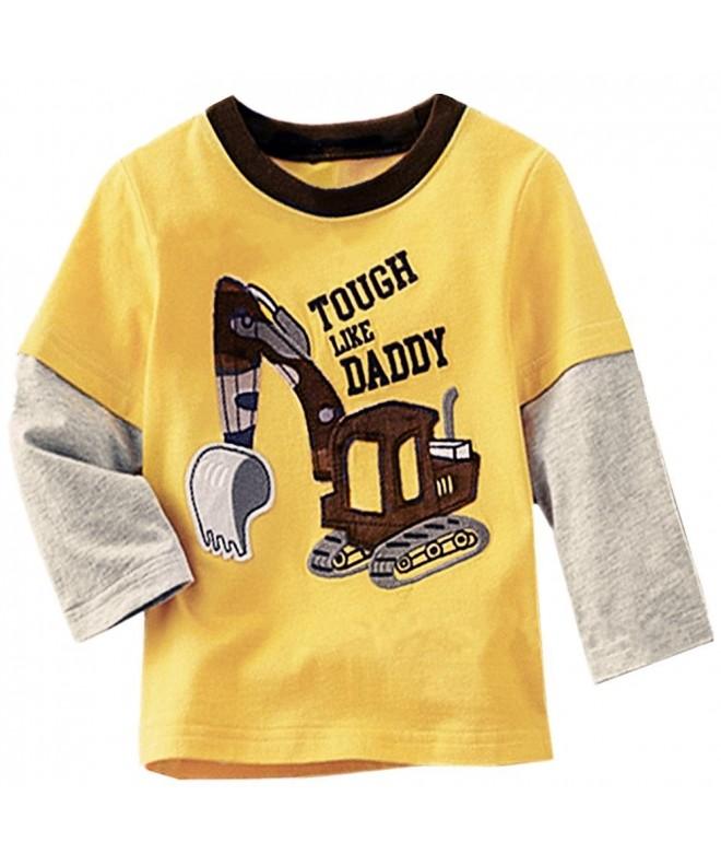 2Bunnies Excavator Buttons Sleeve T Shirt