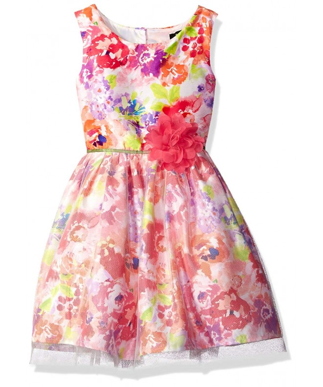 ZUNIE Girls Watercolor Floral Overlay
