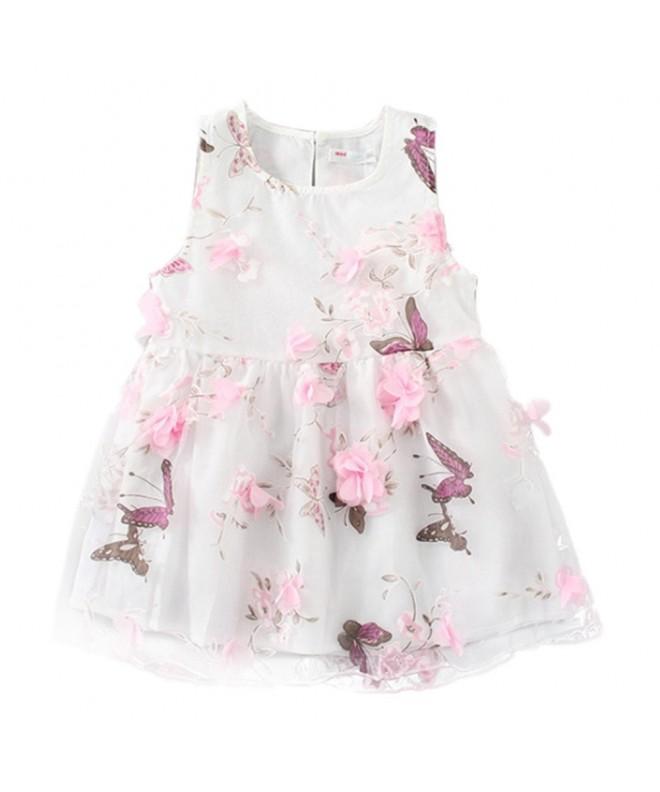 LittleSpring Little Girls Dress Flower