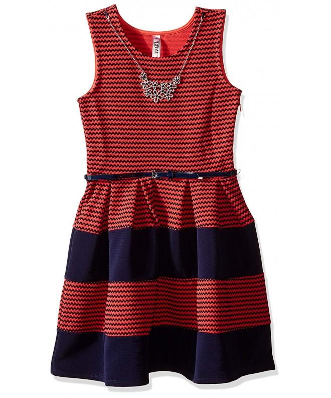 Beautees Girls Stripe Skater Dress