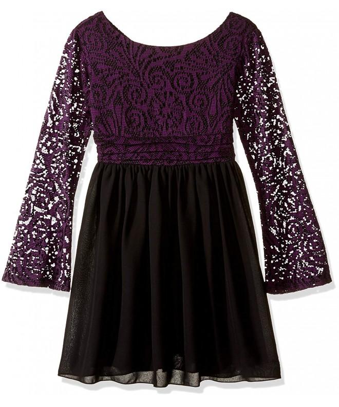 Speechless Girls Chiffon Sleeve Dress