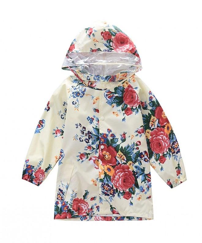 M2C Floral Patterned Waterproof Raincoat