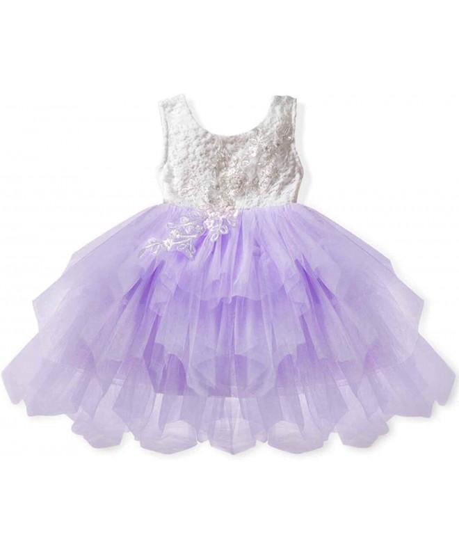 Girls Flower Party Princess Dress