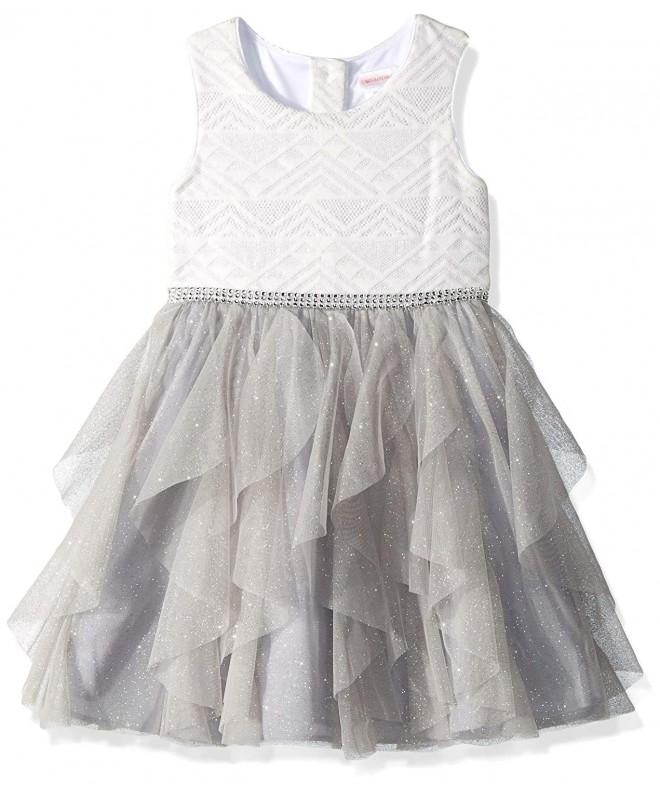 Youngland Girls Chiffon Waterfall Dress