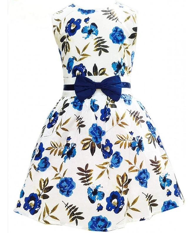 Vintage Flower Summer Sleeveless Dresses