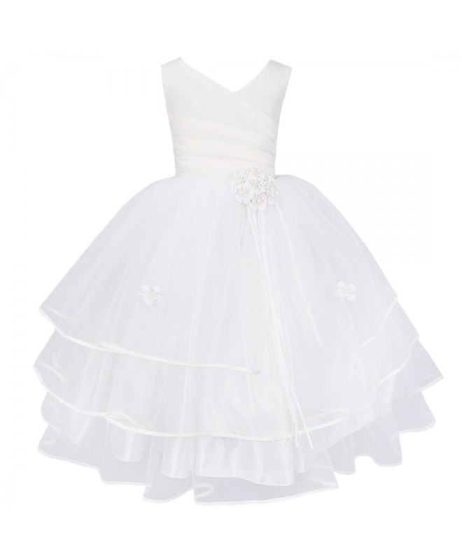 TiaoBug Water Soluble Wedding Pageant Dresses
