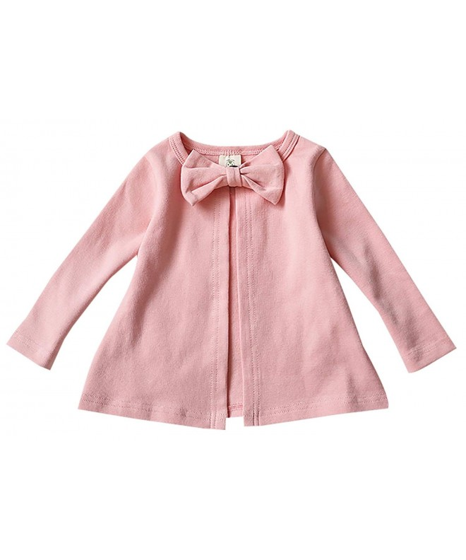 Kacakid Cotton Outerwear Cardigan Bowknot