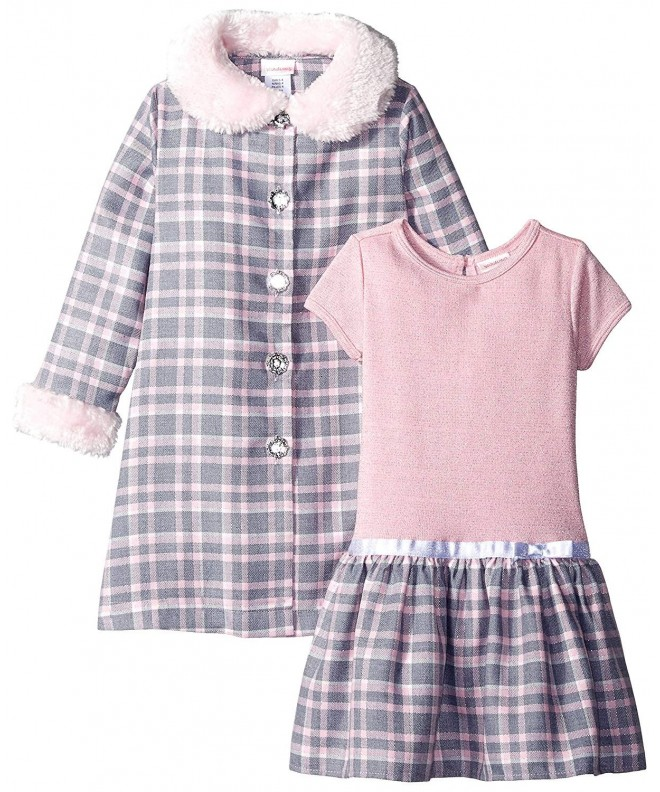 Youngland Girls Woven Plaid Dress