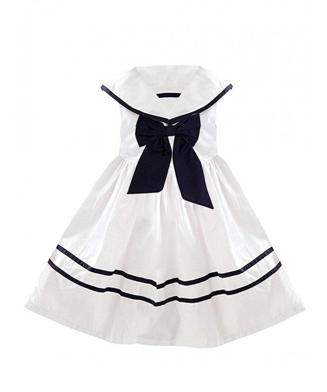 YJ GWL Nautical Dresses Bow Tie Sleeveless