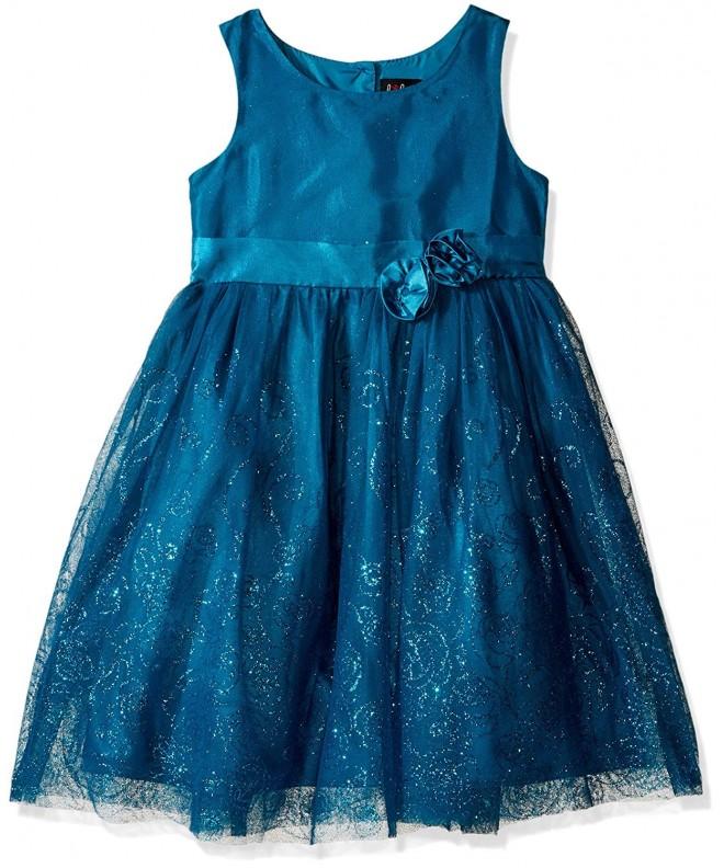 Lilt Girls Floral Glitter Dress