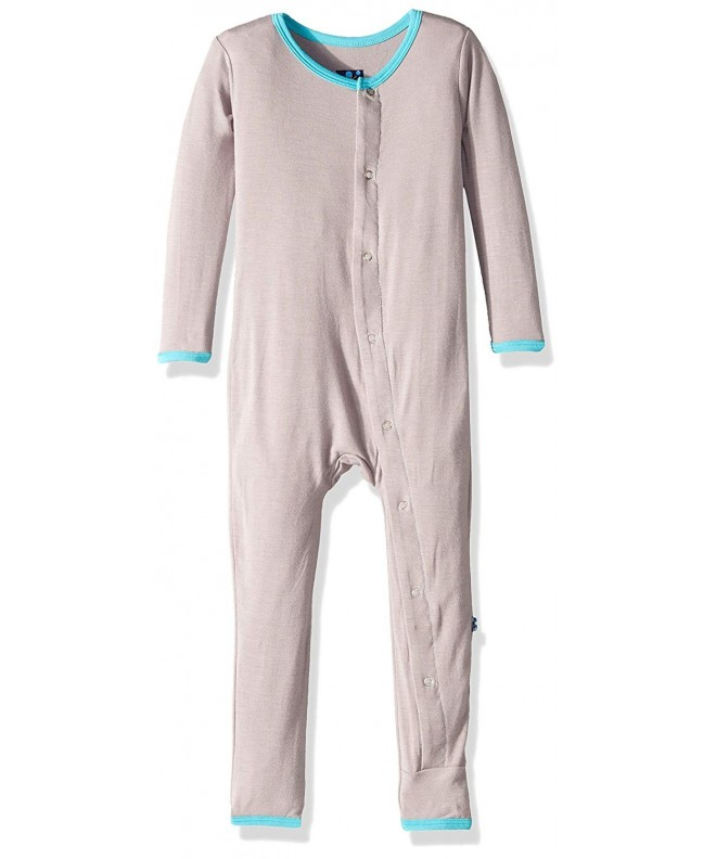 Kickee Pants Fitted Coverall Prd kpca212 fect