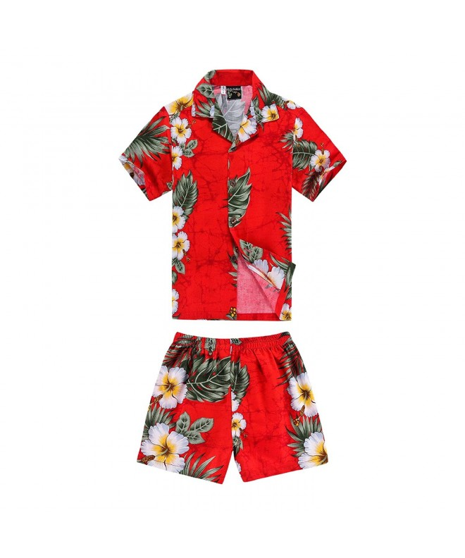 Hawaiian Shirt Shorts Cabana Floral