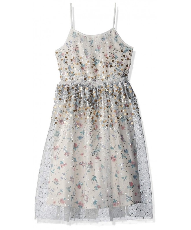 Speechless Girls Floral Glitter Tulle