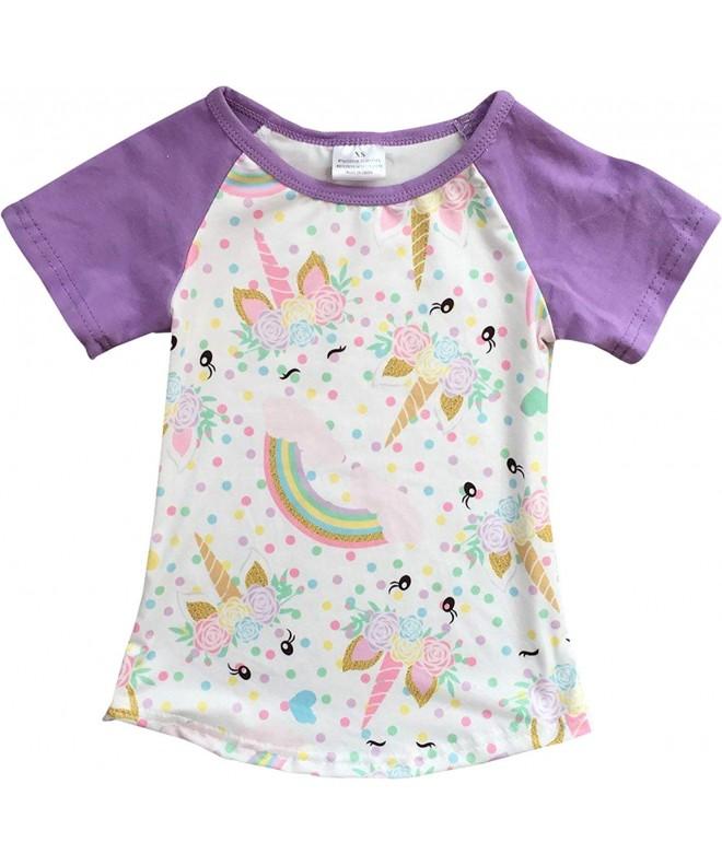 BluNight Collection Unicorn Rainbow T Shirt